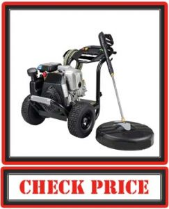 SIMPSON Cleaning MS61033-S 3300 PSI at 2.4 GPM Honda GC190 with OEM Technologies Axial Cam Pump Cold Water Premium Residential Gas Pressure Washer and Surface Scrubber