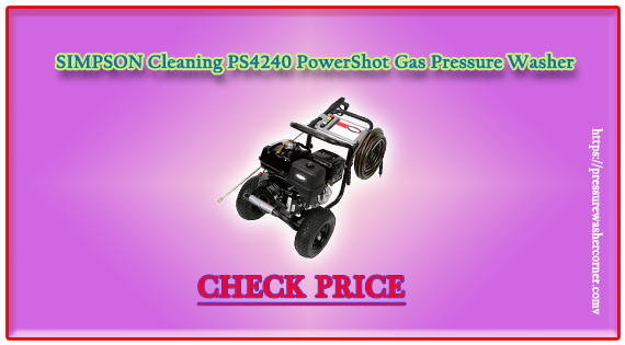 SIMPSON Cleaning PS4240 PowerShot Gas Pressure Washer (reviews 2020)